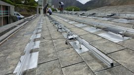 Photo03 Installation of the PV system at the Grimley School